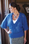 Cable Trim Lace Pullover - Interweave Knits Winter 2010
