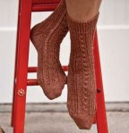 Lace and Twist Socks - Interweave Gifts 2009