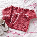 Lacy Baby Cardigan - Creative Knitting Nov 2009
