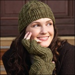 Twist Cable and Fingerless Mittens